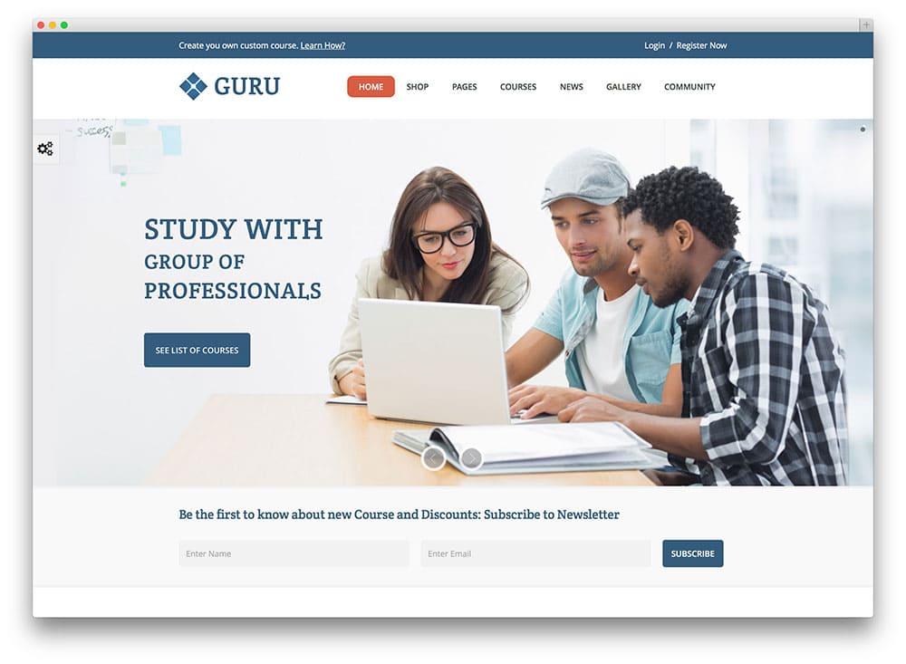 guru online course theme 1 web hosting blog by milesweb
