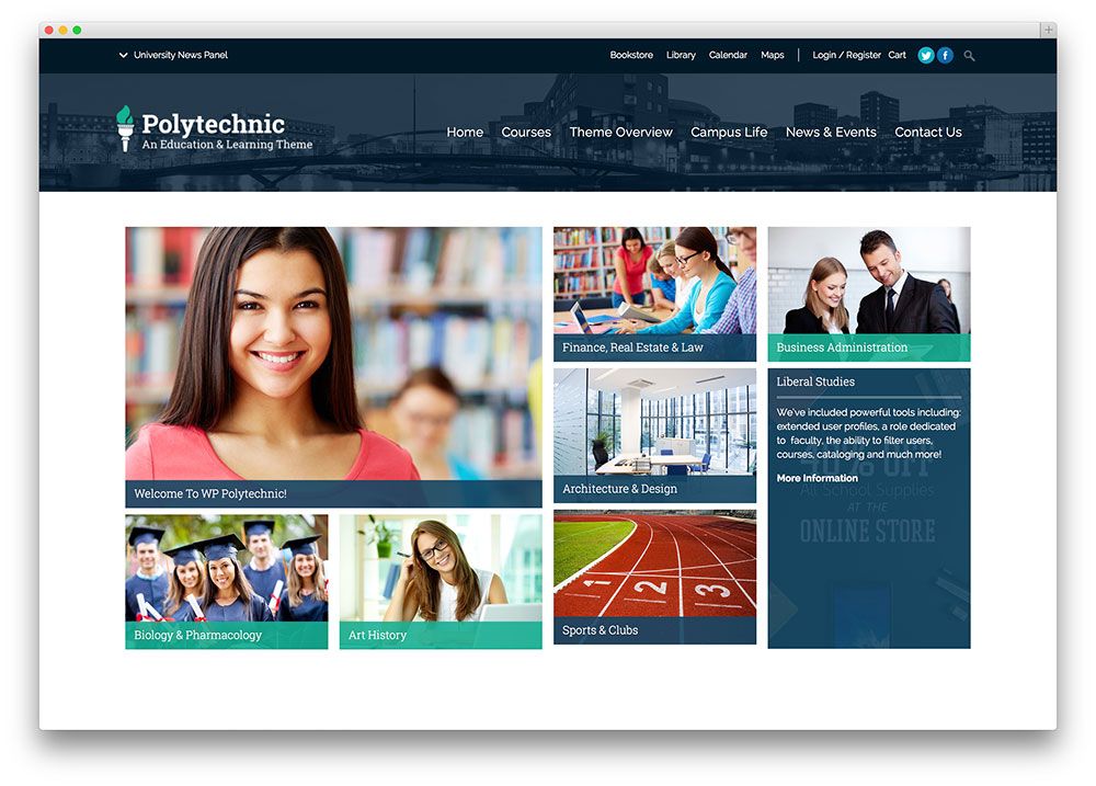 One of the best education wordpress themes.