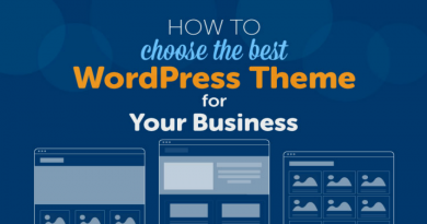 WordPress template for business website