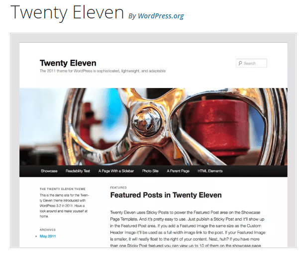 Twenty Eleven - WordPress theme WordPress org