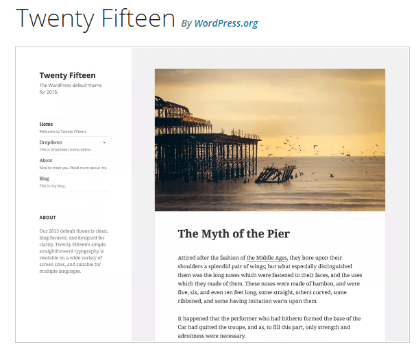 Twenty Fifteen - WordPress theme WordPress org