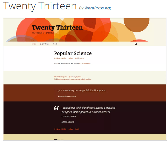 Twenty Thirteen - WordPress theme WordPress org