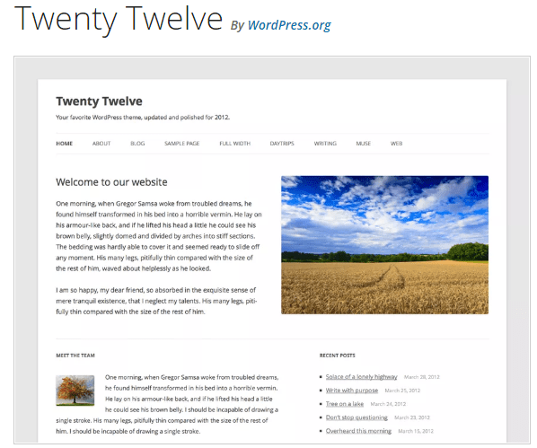 Twenty Twelve - WordPress theme WordPress org