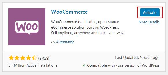 Install WooCommerce3