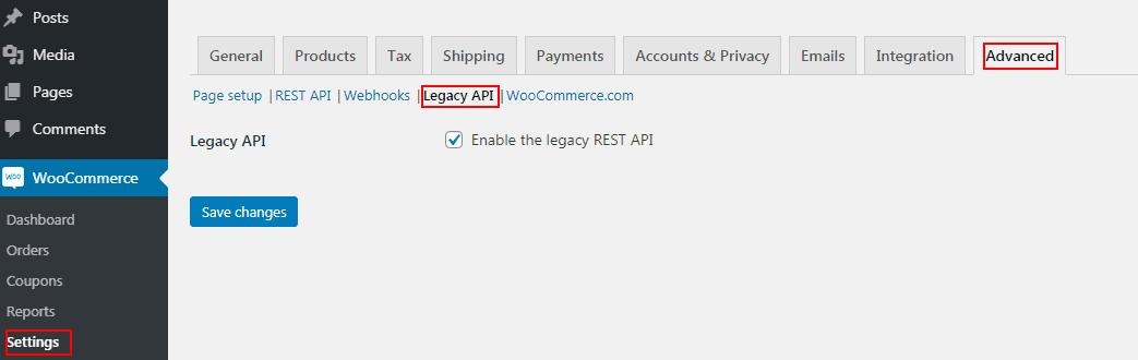 WooCommerce Legacy API