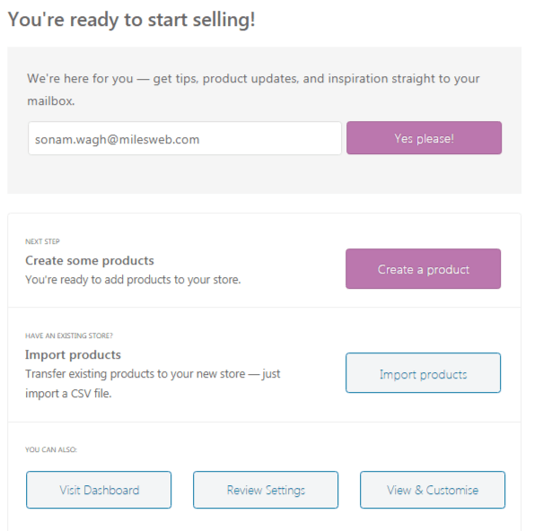 WooCommerce Ready to sell