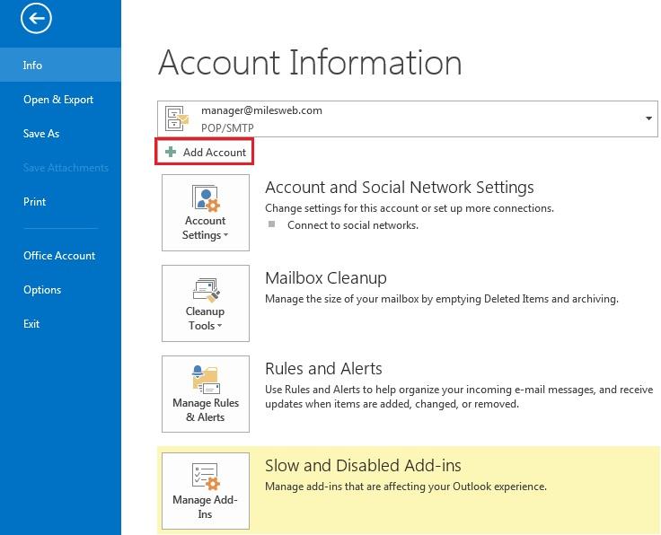 Microsoft Outlook 2013 & 2010