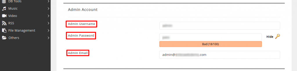 CMS Made Simple Admin Account
