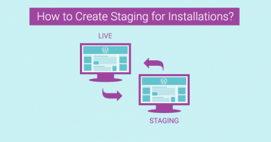 How to Create Staging for Installations?