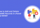 How to Add and Delete CNAME Records in cPanel and WHM?