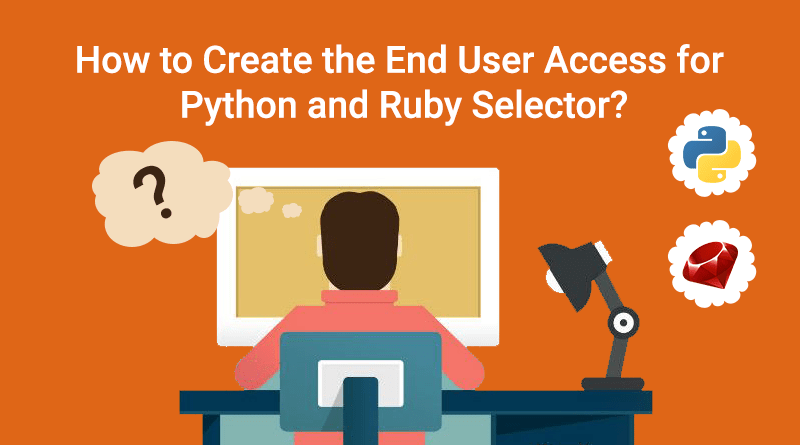 Steps to Create the End User Access for Python and Ruby Selector