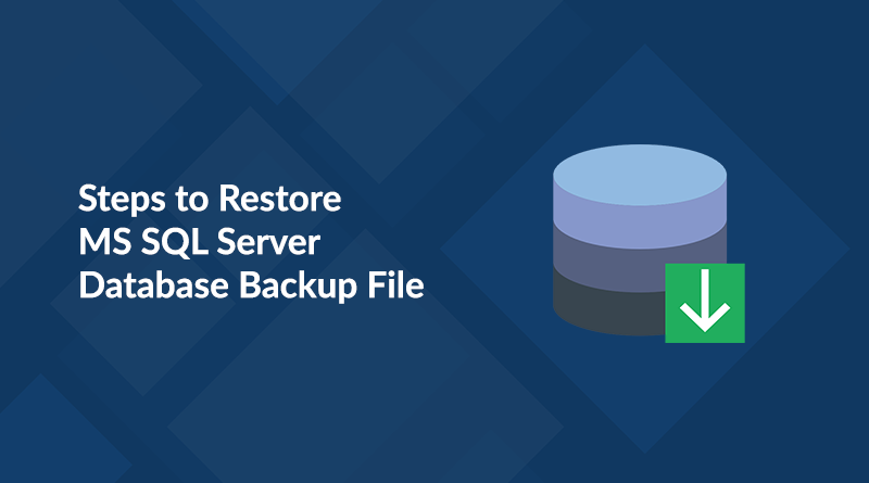 Steps to recover SQL