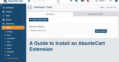 A Guide to Install an AbanteCart Extension