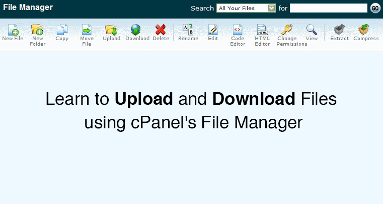 Learn to Upload and Download Files using cPanel's File Manager - Web