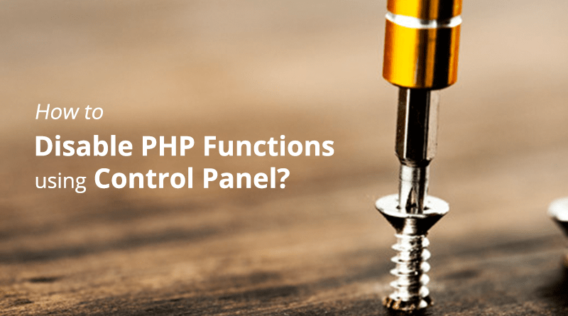 Disable PHP function
