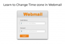 Learn to Change Time-zone in Webmail