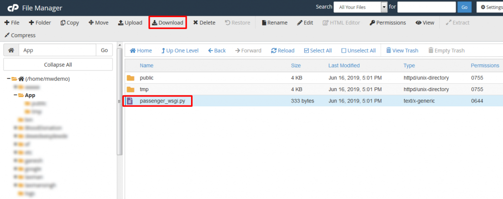 cPanel File Manager Download