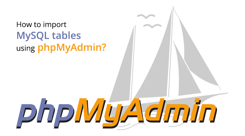 Import MySQL tables