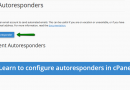 Learn to configure autoresponders in cPanel
