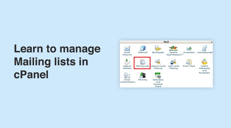 Manage mailing list
